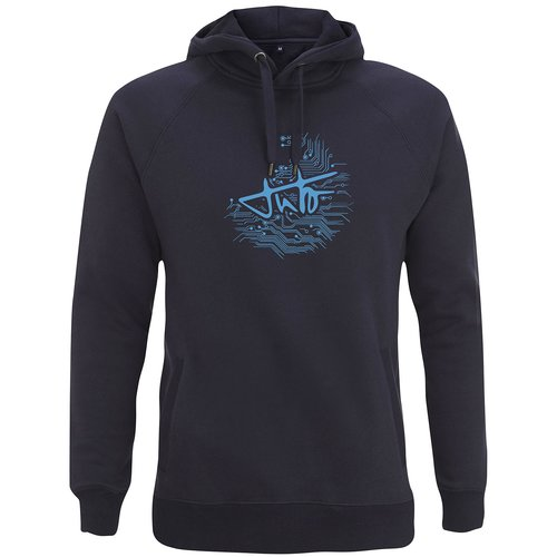 TUTO Hoodie DNA Cotton Blue